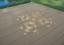 Uprawa okrąg w polu uprawnym blisko Mammendorf, Bavaria, Niemcy zdjęcie stock