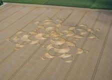 Uprawa okrąg w polu uprawnym blisko Mammendorf, Bavaria, Niemcy zdjęcia stock