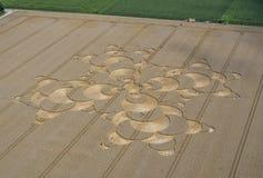 Uprawa okrąg w polu uprawnym blisko Mammendorf, Bavaria, Niemcy obrazy stock