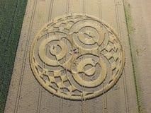 Uprawa okrąg w polu uprawnym blisko Rasiting zdjęcia royalty free
