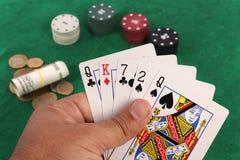 Uprawiać hazard czas zdjęcia stock