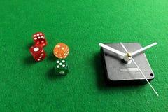 Uprawiać hazard czas obraz stock
