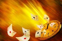 Uprawiać hazard czas fotografia stock
