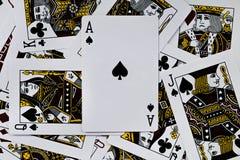 Uprawiać hazard kartę Zdjęcia Stock