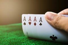 Uprawiać hazard kartę Zdjęcie Royalty Free