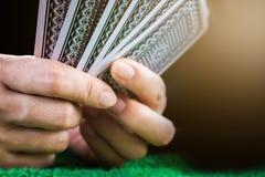 Uprawiać hazard kartę Zdjęcia Royalty Free