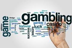 Uprawiać hazard słowo chmurę obrazy stock