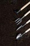Uprawiać ogródek narzędzia i mszarnika Zdjęcie Stock
