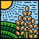 Uprawiać ziemię i rolnictwo ilustracja wektor