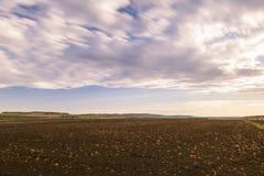 Uprawiać ziemię pole w Toowoomba, Australia Zdjęcia Stock