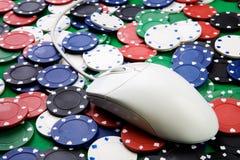 uprawiać hazard online Zdjęcia Stock