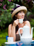 uprawia ogródek herbaty Obrazy Royalty Free