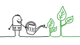 uprawia ogródek mężczyzna Fotografia Royalty Free