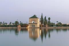 uprawia ogródek Marrakech menara Morocco pawilon Fotografia Royalty Free