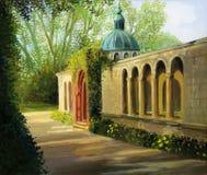 uprawia ogródek San souci ilustracji