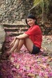 uprawia ogródek siedzące kobiety Obraz Royalty Free