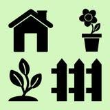 Uprawia? ogr?dek Ikony dla domu i ogródu r?wnie? zwr?ci? corel ilustracji wektora royalty ilustracja