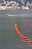 Uprawia ziemię dla lęgowych mussels w zatoce Kotor w Montenegro Obraz Stock