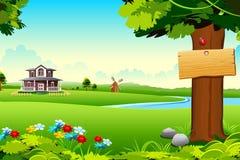uprawia ziemię dom royalty ilustracja