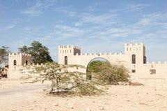Uprawia ziemię w pustyni Katar, Środkowy Wschód Zdjęcia Stock