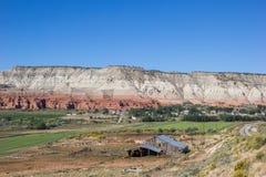Uprawia ziemię wzdłuż scenicznego byway w Utah, usa obraz stock