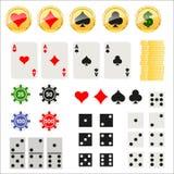 Uprawiający hazard elementy ustawiających Fotografia Stock
