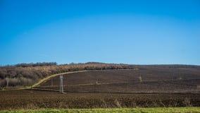 uprawy lądują nowy zaorany przygotowanego zdjęcia royalty free
