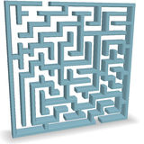 Upright Blue Maze Puzzle on Shadow Stock Images