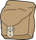Upright Brown Backpack Royalty Free Stock Photo