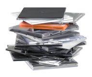 Upright CD jewel cases Stock Photo