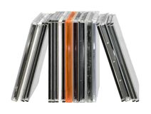 Upright CD jewel cases Stock Images