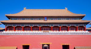 The Upright Gate Leading From Tiananmen Square Into The Forbidden City In Beijing, China Stock Photos