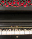 Upright grand piano Stock Image
