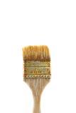 Upright Paint Brush. Isolated on White Background Stock Photo