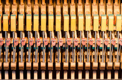 Upright piano dampers Stock Photos