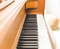 Upright piano keyboard or piano keys Stock Photography