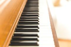 Upright piano keyboard or piano keys Stock Photo