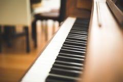Upright piano keyboard or piano keys Stock Images