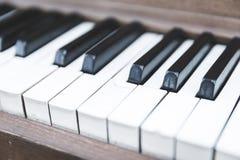 Upright piano keyboard or piano keys Royalty Free Stock Images