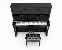 Upright piano. On light background in studio Royalty Free Stock Photography