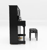 Upright piano. On light background in studio Royalty Free Stock Photos