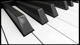 Upright piano. On light background in studio stock video