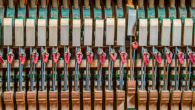 Upright piano mechanics Stock Image
