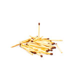 Upright and scattered, safety match Stock Photo