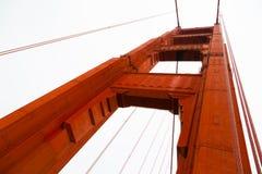 Golden Gate Bridge Column. Upright stanchion to the Golden Gate Bridge, San Francisco, California, USA Stock Images