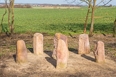 Upright stones, menhirs Royalty Free Stock Photos