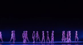 Upright walking-Huang Mingliang`s dance`No shelter`. In May 25, 2018, the dance drama `no shading` was staged at the theater of Jiangxi science and technology Stock Photos