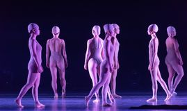 Upright walking-Huang Mingliang`s dance`No shelter`. In May 25, 2018, the dance drama `no shading` was staged at the theater of Jiangxi science and technology Royalty Free Stock Images