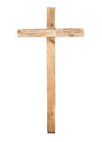 Upright wooden cross royalty free stock photo