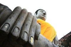 Uprisen angle of buddha Royalty Free Stock Photography
